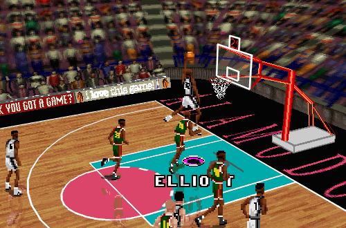 Classic Isometric Cam in NBA Live 96 (Spurs vs SuperSonics)