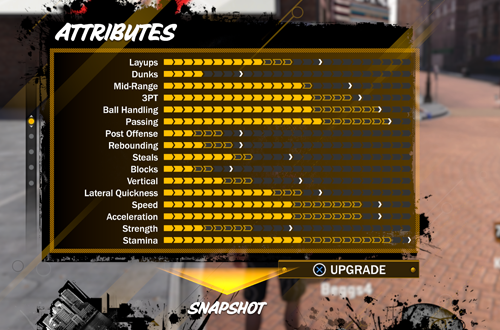 Attributes in MyCAREER (NBA 2K18)