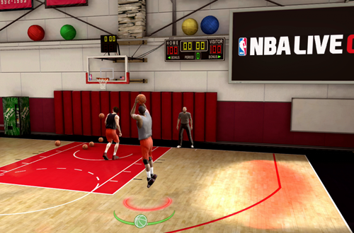 Shooting in the NBA Live Academy (NBA Live 09)