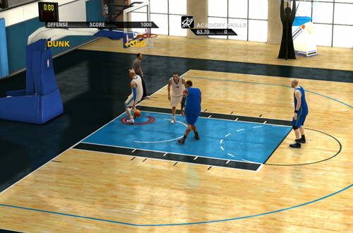 Fast Break Drill in the NBA Live Academy (NBA Live 10)