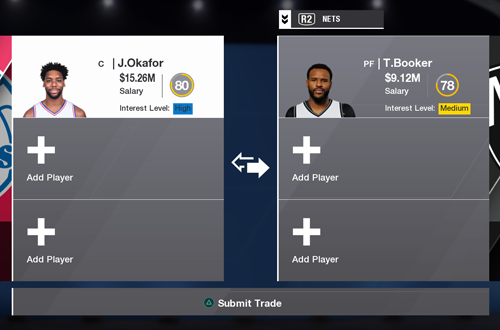Trading Players in NBA Live 18