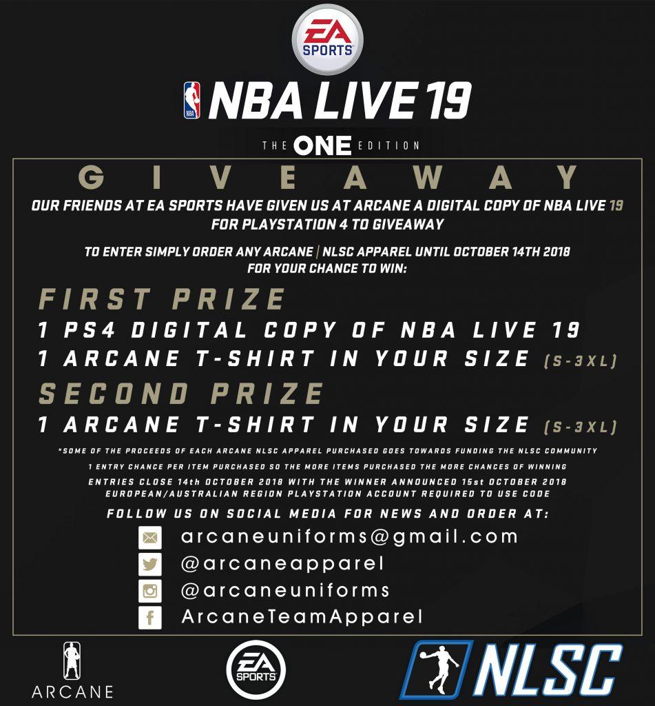 NBA Live 19 Arcane Team Apparel Contest
