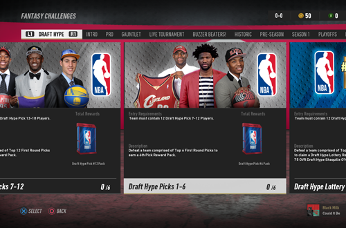 Fantasy Challenges in NBA Live 19 Ultimate Team