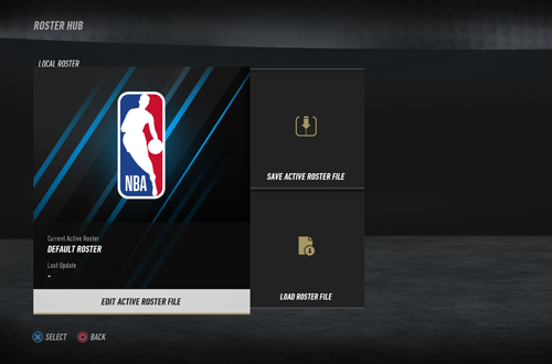 Roster Hub in NBA Live 19