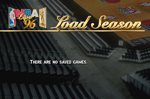 No Saved Game Files in NBA Live 96