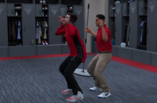 Weird Mantis Dance in MyCAREER (NBA 2K18)