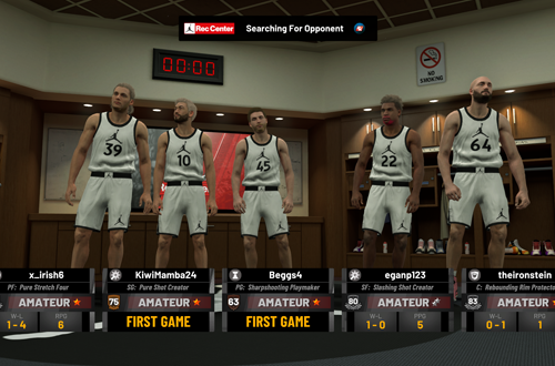 Waiting in the Jordan Rec Center Locker Room (NBA 2K19)