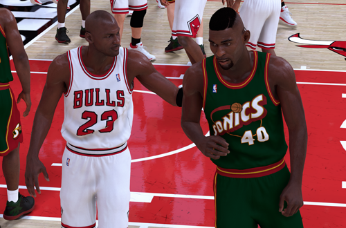 Michael Jordan & Shawn Kemp (NBA 2K19)