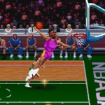 Alonzo Mourning dunks in NBA Jam Tournament Edition PC