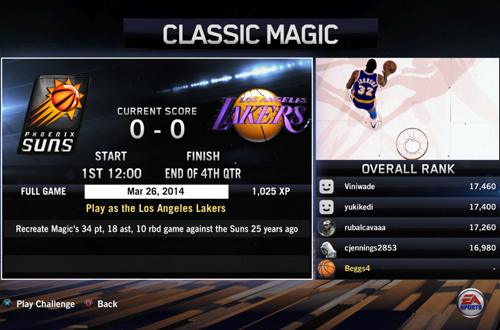 BIG Moments: Classic Magic (NBA Live 14)