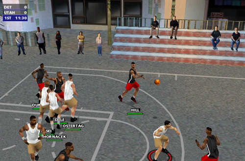 Playground Cheat in NBA Live 2000