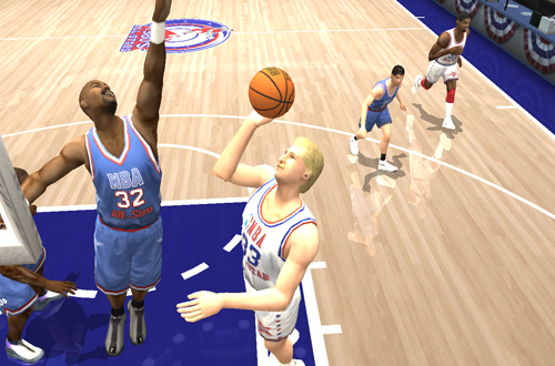 Larry Bird vs Karl Malone (Decade All-Stars, NBA Live 2004)