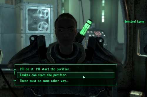 Ending Choices in Fallout 3