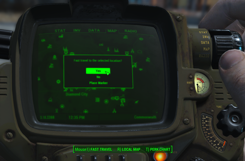 Fast Travel would be handy in The Neighborhood (Fallout 4)