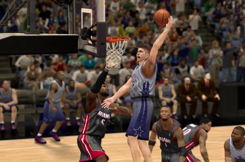 Justin Bieber dunks in NBA 2K13