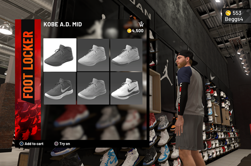 Shoe prices encourage microtransactions (NBA 2K19)
