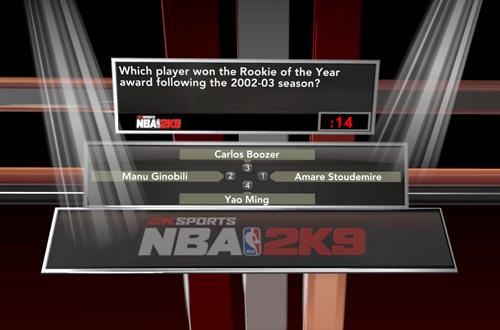 Trivia Question in NBA 2K9