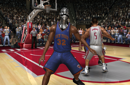 Renaldo Balkman missing a face in NBA Live 07