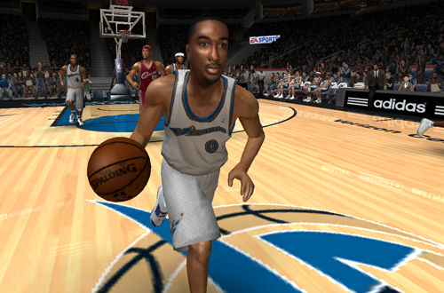 Cover player Gilbert Arenas in NBA Live 08 PC