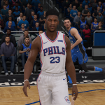 Jimmy Butler on the Philadelphia 76ers in NBA Live 19