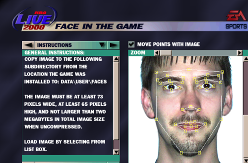 Developer Rod Reddekopp's Face in the Game (NBA Live 2000)