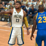 Cover Player Paul George in NBA 2K17