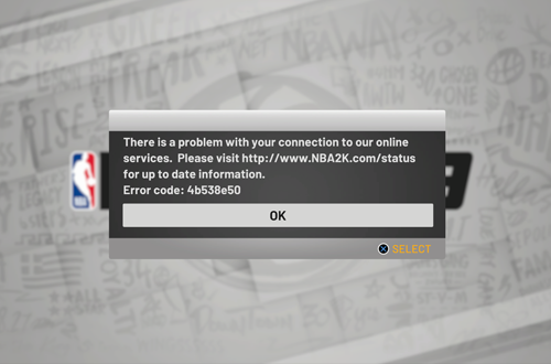 Connection Error in NBA 2K19