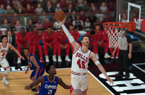 Dunking in MyCAREER (NBA 2K19)