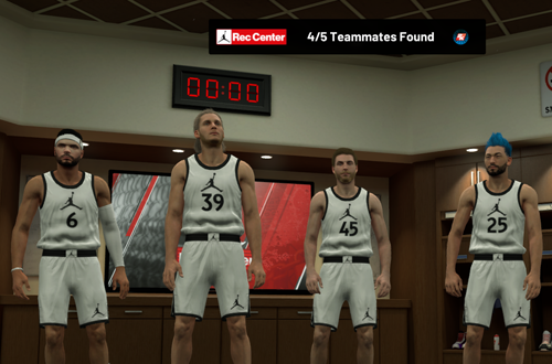 Waiting for randoms in the Jordan Rec Center (NBA 2K19)