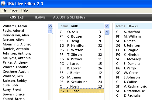 NBA Live 08 Editor v2.3