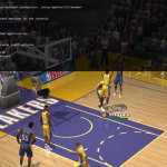 Dev Console in NBA Live 2003