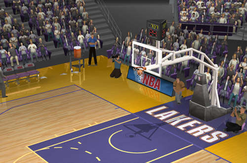 Turning players invisible with the Dev Console (NBA Live 2003)