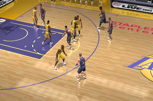 No Indicators & Overlays (NBA Live 2003 Dev Console)