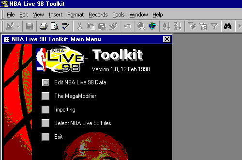 NBA Live 98 Toolkit