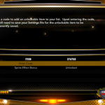 Menu for Cheat Codes in NBA 2K13