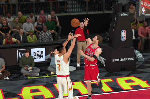 Blocking Jeremy Lin in MyCAREER (NBA 2K19)