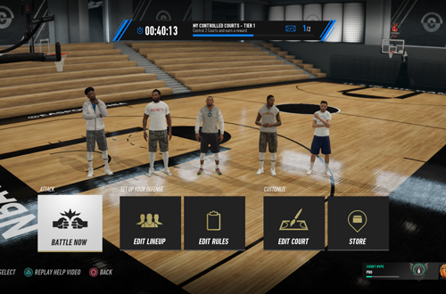 Court Battles Menu in NBA Live 19