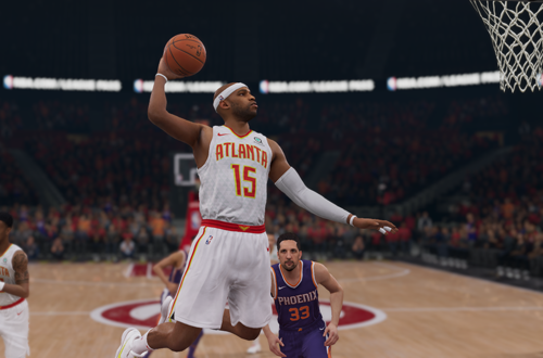 Vince Carter dunks in NBA Live 19
