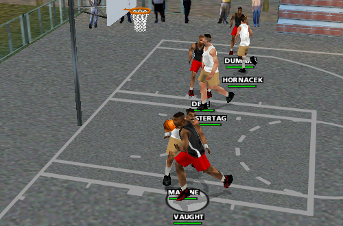 Playground Court Cheat Code in NBA Live 99