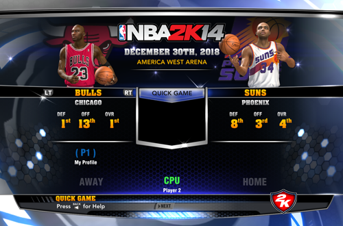 Ultimate Base Roster 2K14: Bulls vs Suns 1993