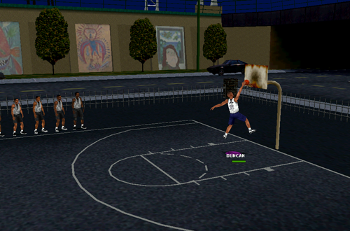 Tim Duncan Practices in NBA Inside Drive 2000