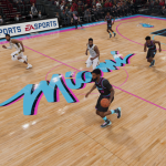 Miami Heat City Edition Court in NBA Live 19