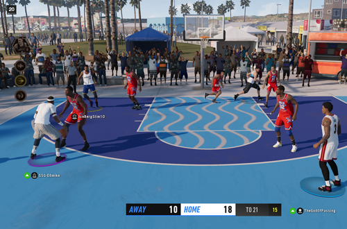 Spacing is crucial in online play (NBA Live 19, LIVE Events)