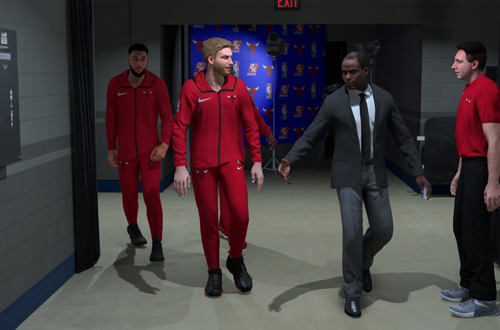 Becoming a starter in MyCAREER (NBA 2K19)