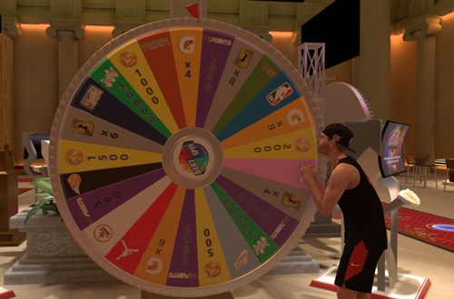 Daily Prize Wheel in MyCAREER (NBA 2K19)