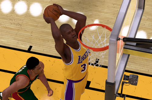 Shaq on the 1998 Lakers (NBA 2K19)
