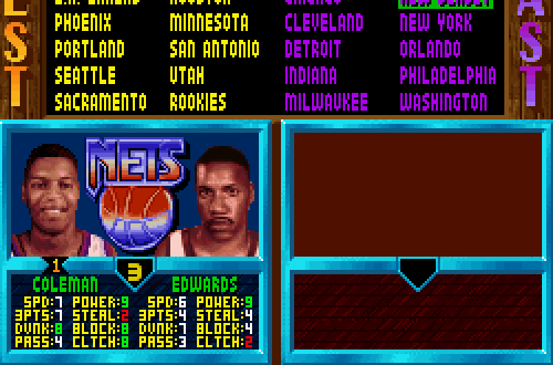 Kevin Edwards in NBA Jam TE SNES