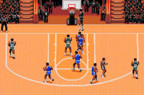 Dunking in TV Sports Basketball