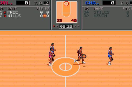 Halfcourt Cutscene in TV Sports Basketball