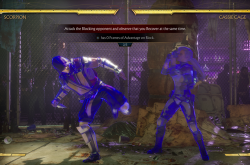 Recovery Training in Mortal Kombat 11